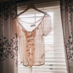 Sheer florals blouse from Abercrombie & Fitch.